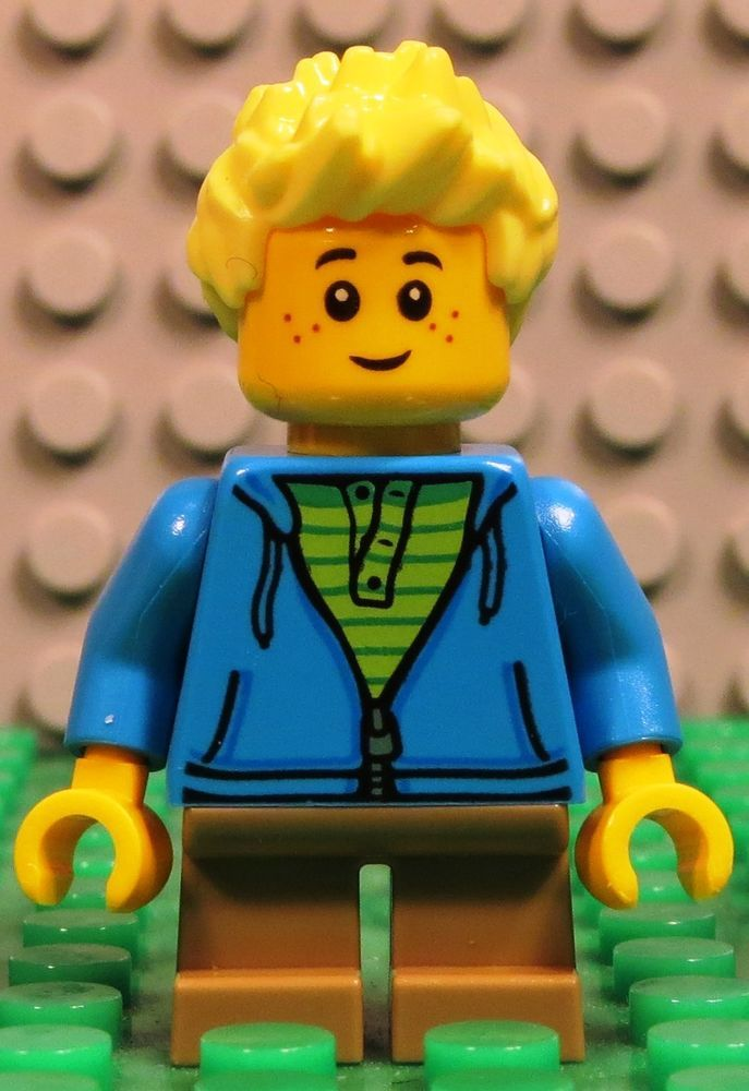 NEW Lego Male Minifig TAN SPIKED HAIR