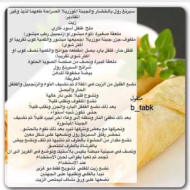 سبرنج رول الخضار Copycat Recipes Food Recipes