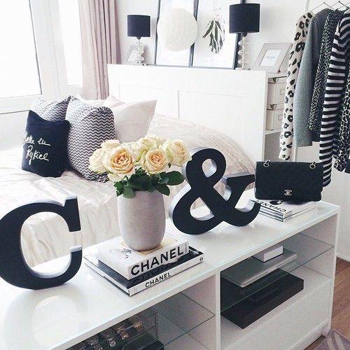 Image Via Heart Black Chanel Room White