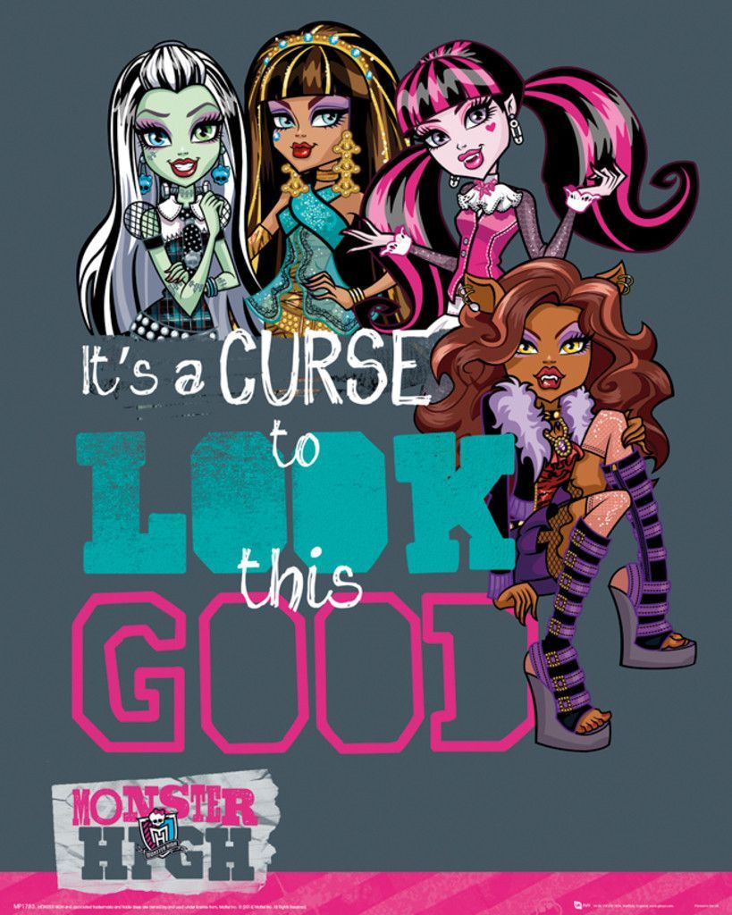 Monster high look this good official mini poster
