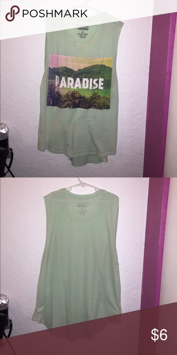 Paradise tanktop Comfortable Mint color tanktop, Goes cute with white shoes Tops Muscle Tees