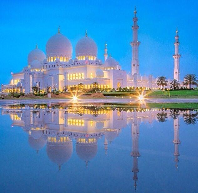 Uae مسجد الشيخ زايد ابوظبي Arabien Arabische Lander Nacht