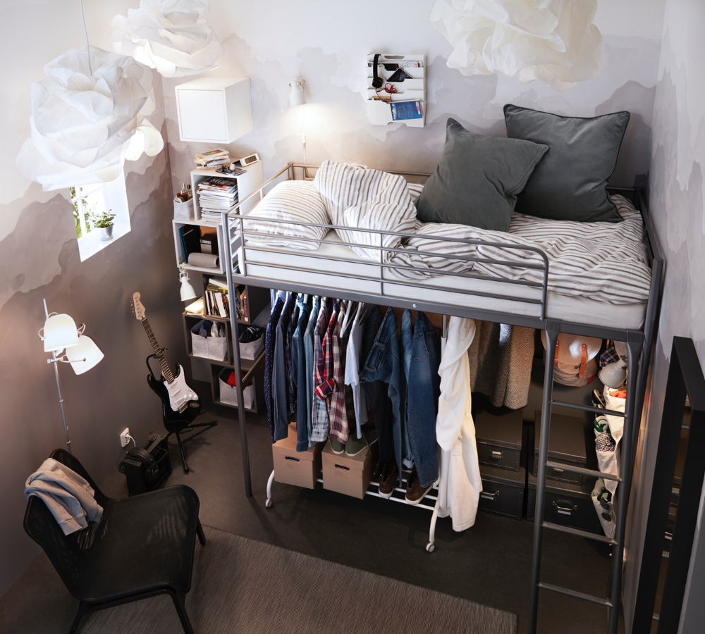 Camerette Tre Letti Ikea bunk bed as a solution for small room | ikea indonesia (with