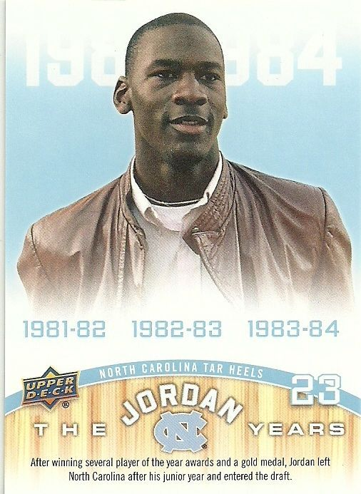 2010 UD NORTH CAROLINA THE JORDAN YEARS #183 MICHAEL JORDAN 50 CENT SHIPPING…
