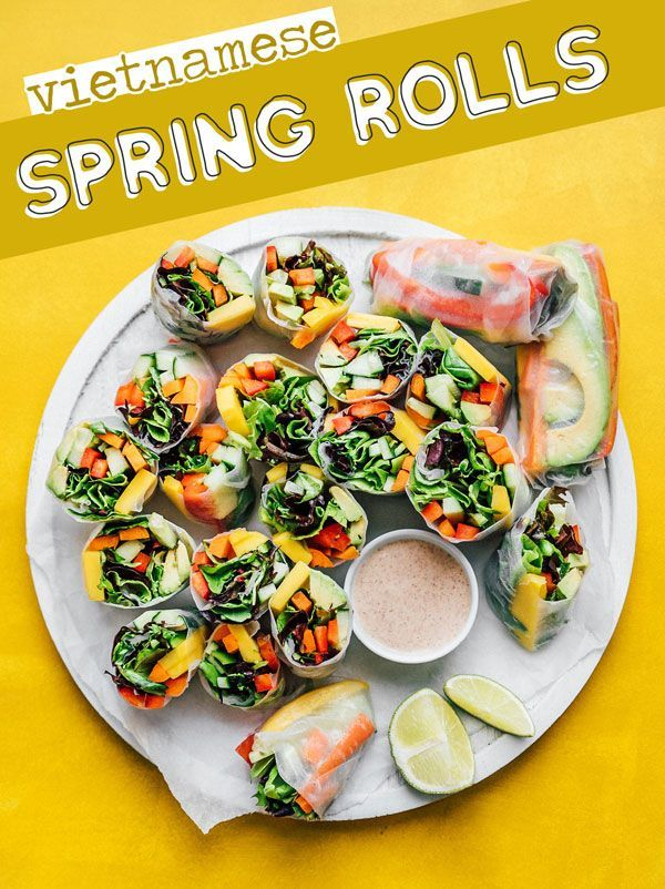 Vegetable Vietnamese Spring Rolls Recipe Vietnamese Spring Rolls Vegetarian Recipes Recipes