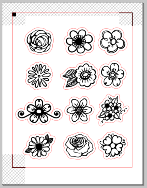 image about Colored Printable Labels named Designing Printable Coloring Stickers Silhouette Magic in just
