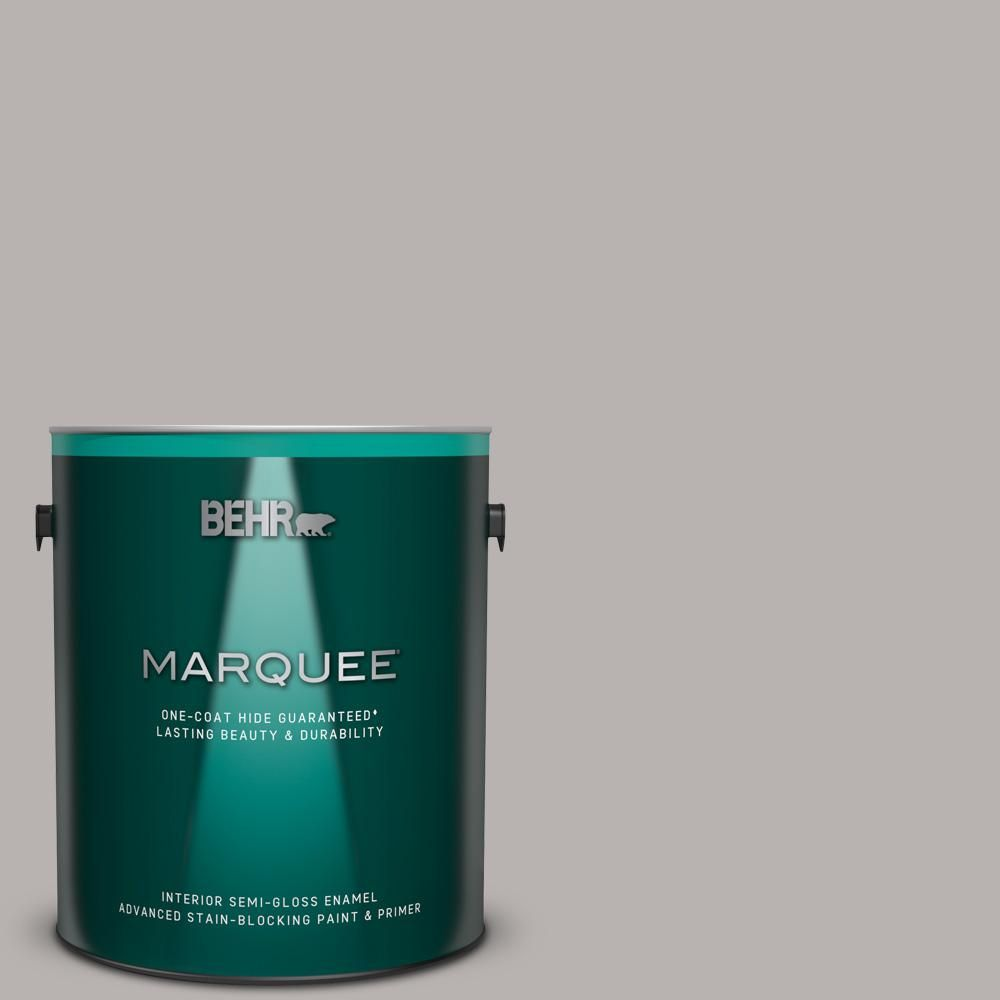 Behr Marquee 1 Gal 790e 3 Porpoise Semi Gloss Enamel Interior Paint And Primer In One Grey Behr Marquee Behr Marquee Paint Interior Paint