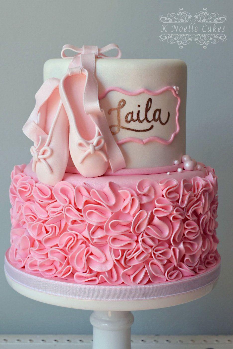 Ballerina Theme Birthday Cake By K Noelle Cakes Cakes By K - Ballet birthday cake