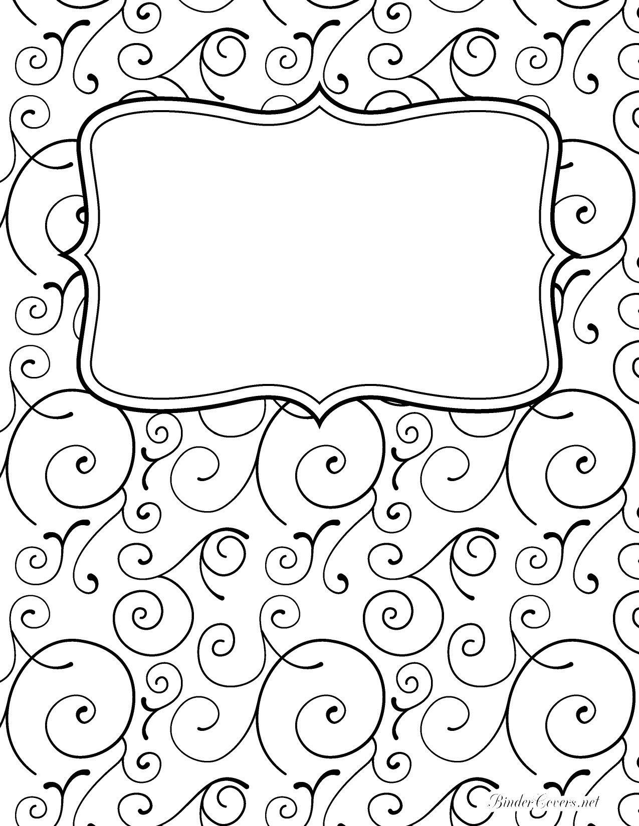 Portada De Cuaderno Blanco Y Negro Pinterest