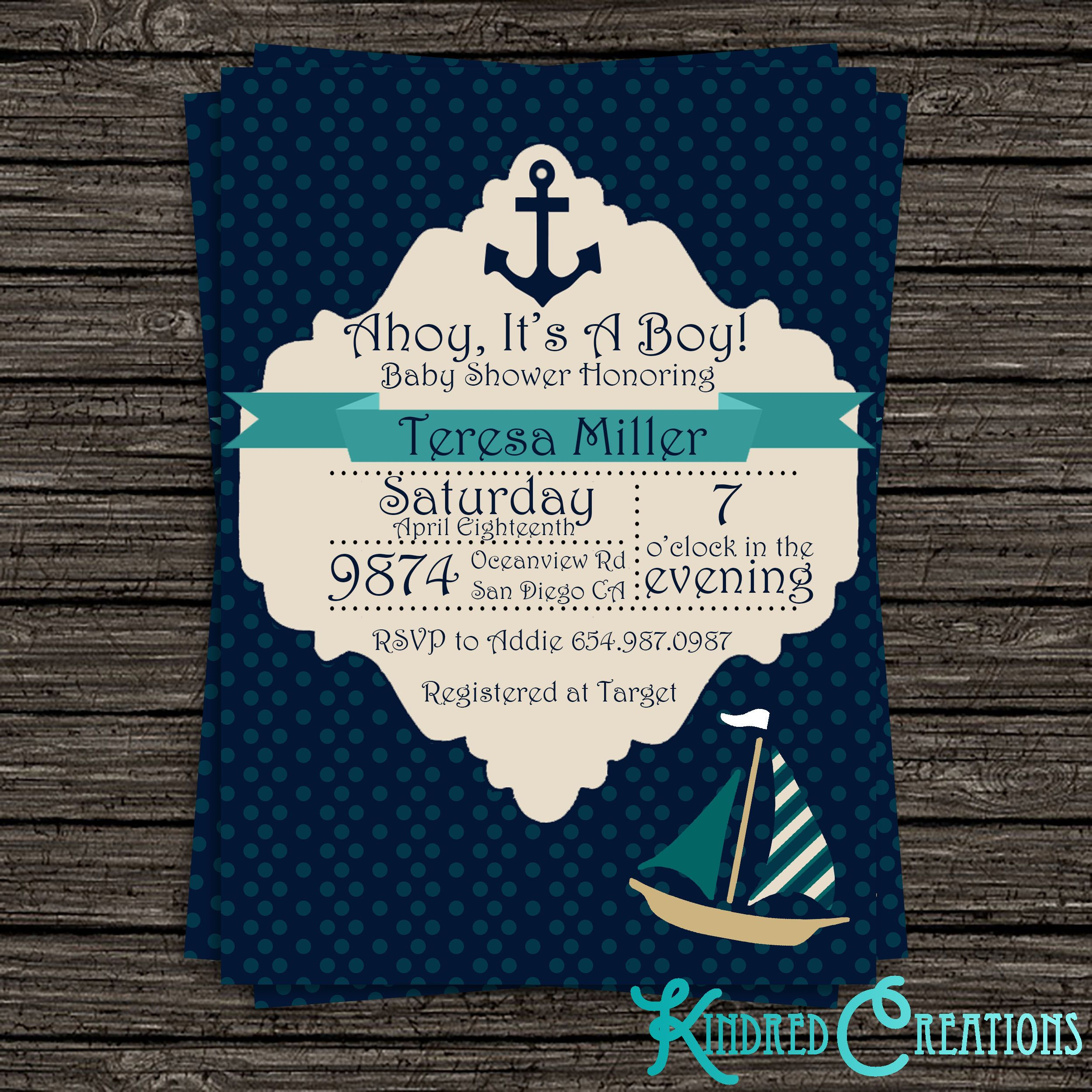 Featured Products: Boy Baby Shower Invitations | Boy baby showers ...