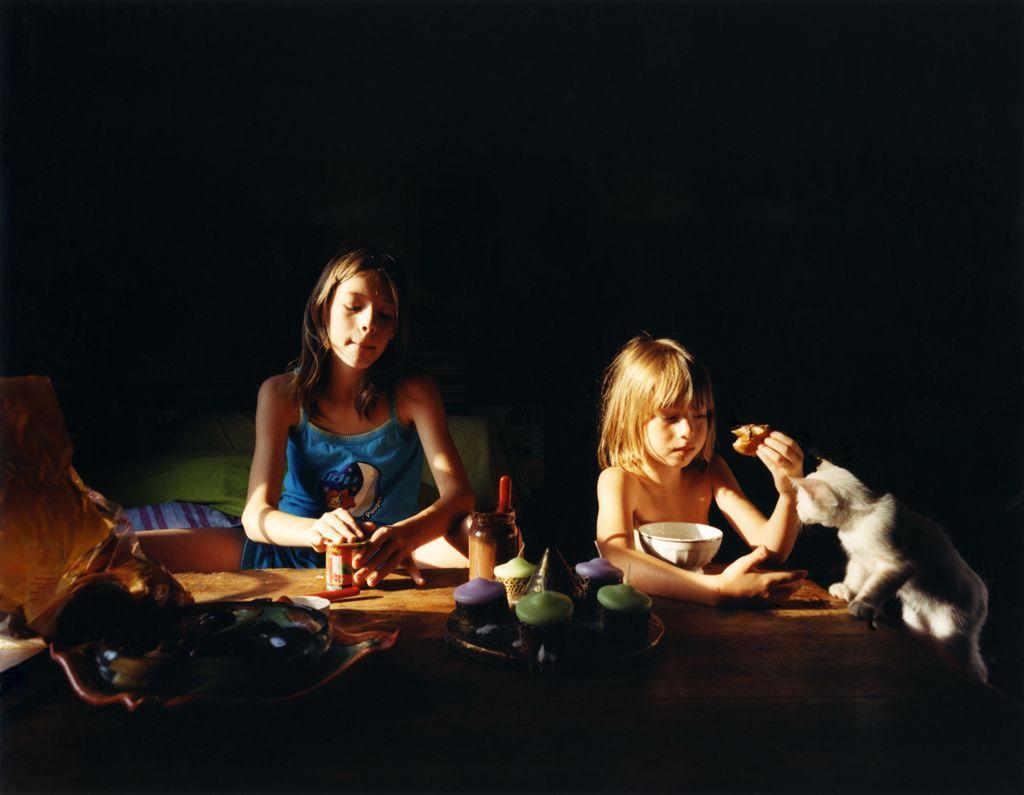Beth Yarnelle Edwards,  Dita, age 10,and Nolwenn, age 6, France, 2003.   Fuji Crystal Archive Print