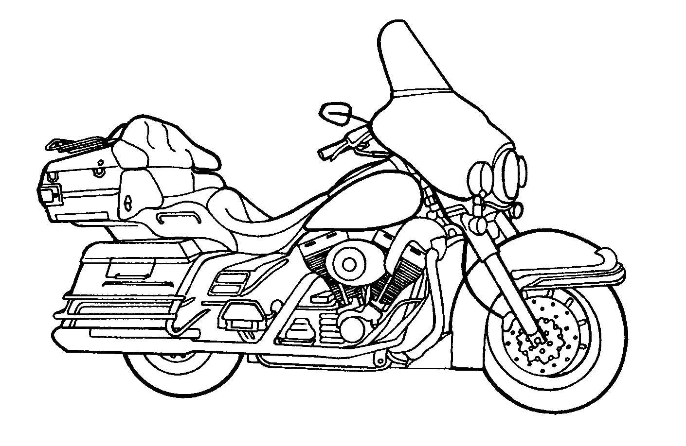 Printable Motorcycle Coloring Pages For Preschoolers Coloring
