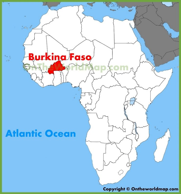 Map Of Burkina Faso Africa Burkina Faso location on the Africa map | Africa map, Map, Word map