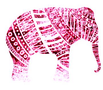 pink elephant print.