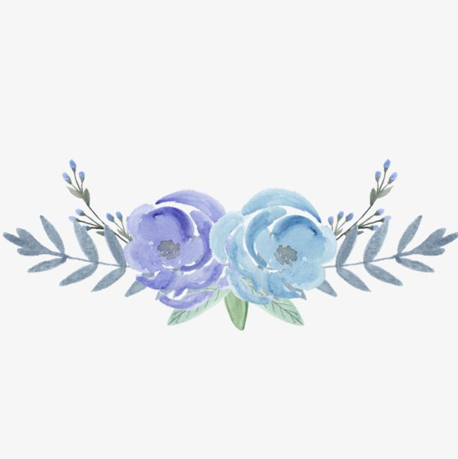 Elegant Decorative Flowers In 2020 Free Watercolor Flowers