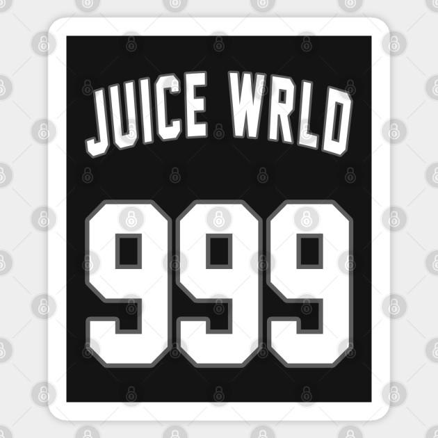 Juice Wrld 999 Juice Wrld 999 Sticker Teepublic Art Typography Design Print