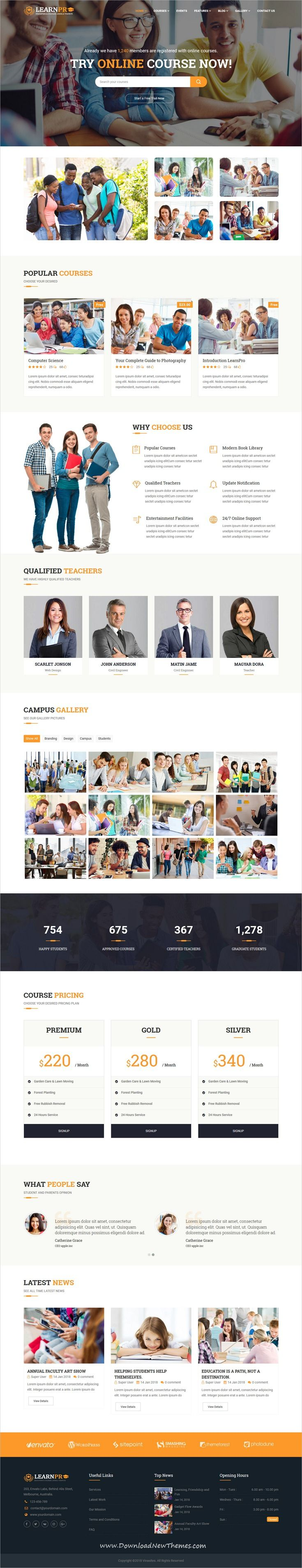Learnpro Is Clean And Modern Design Responsive Joomla Theme For