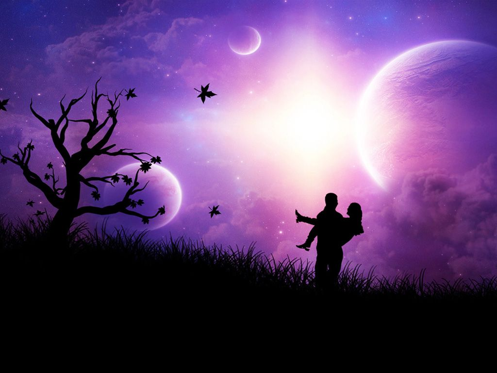 Purple Fantasy Purple fantasy sky landscape wallpaper Desktop Background Fantasy Art Pieces ...