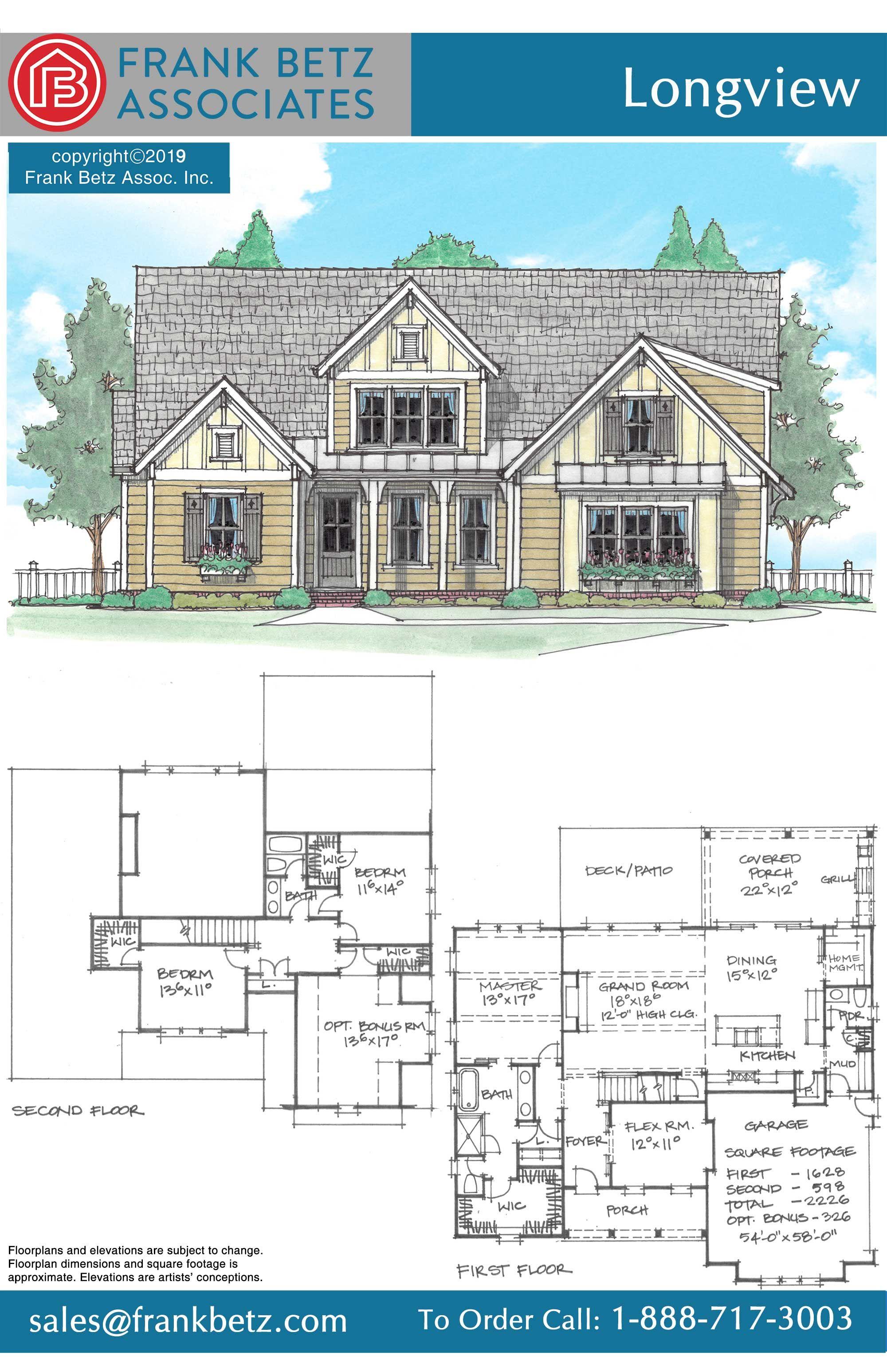 Longview House Plan House Plans Frank Betz House Floor Plans