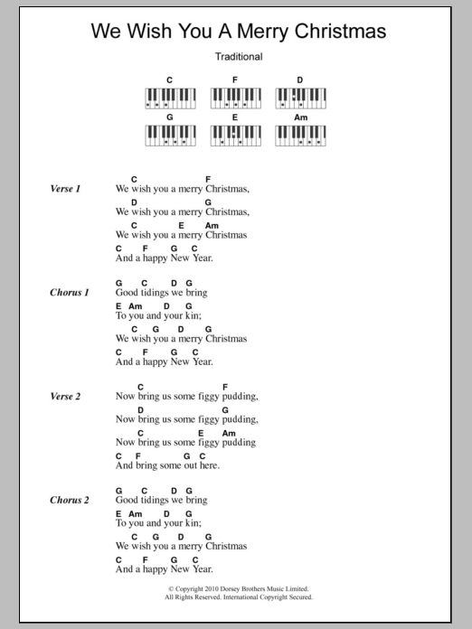 Ukulele Lyrics And Chords We Wish You A Merry Christmas Google Search Lyrics And Chords Christmas Ukulele Songs Piano Chords Songs