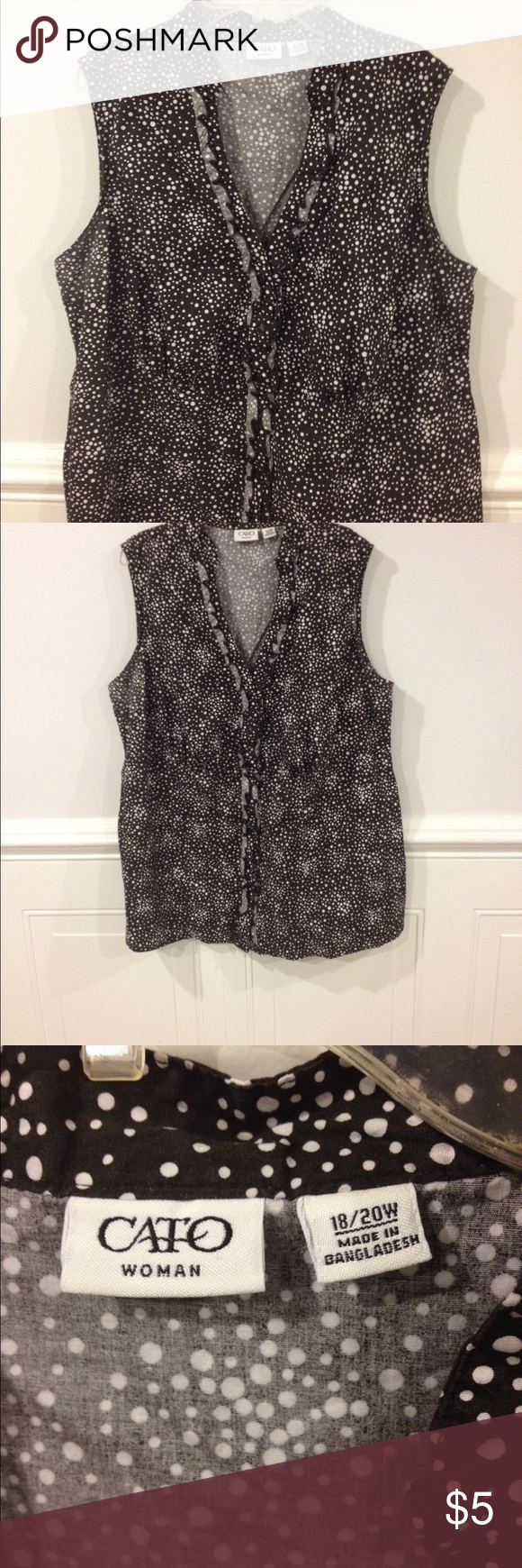 18-20W Cato blouse good condition Size 18-20W Cato blouse good condition Cato Tops Blouses