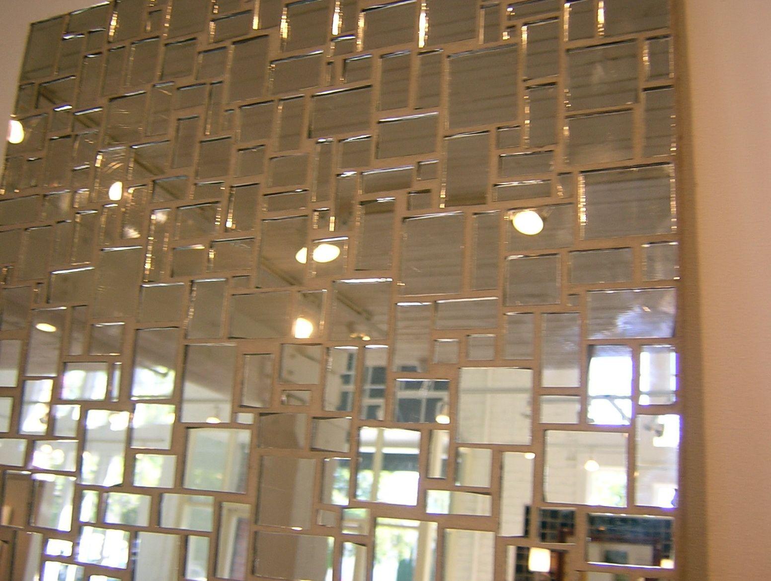 Mirror wall tiles self adhesive entry