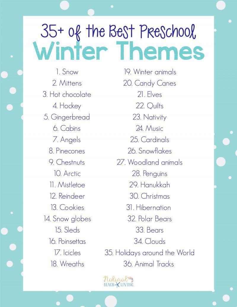 Ponad 35 najlepszych zimowych tematów przedszkolnych planów lekcji zajęć i materiałów do wydruku Idealny do cotygodniowych lub miesięcznych zajęć tem...