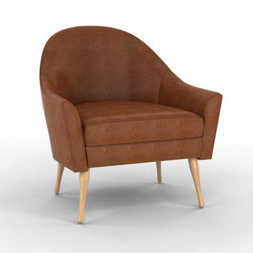 Dwellstudio Calvin Leather Chair Dwellstudio Furniture Leather Chair Living Room Lounge Chairs Living Room