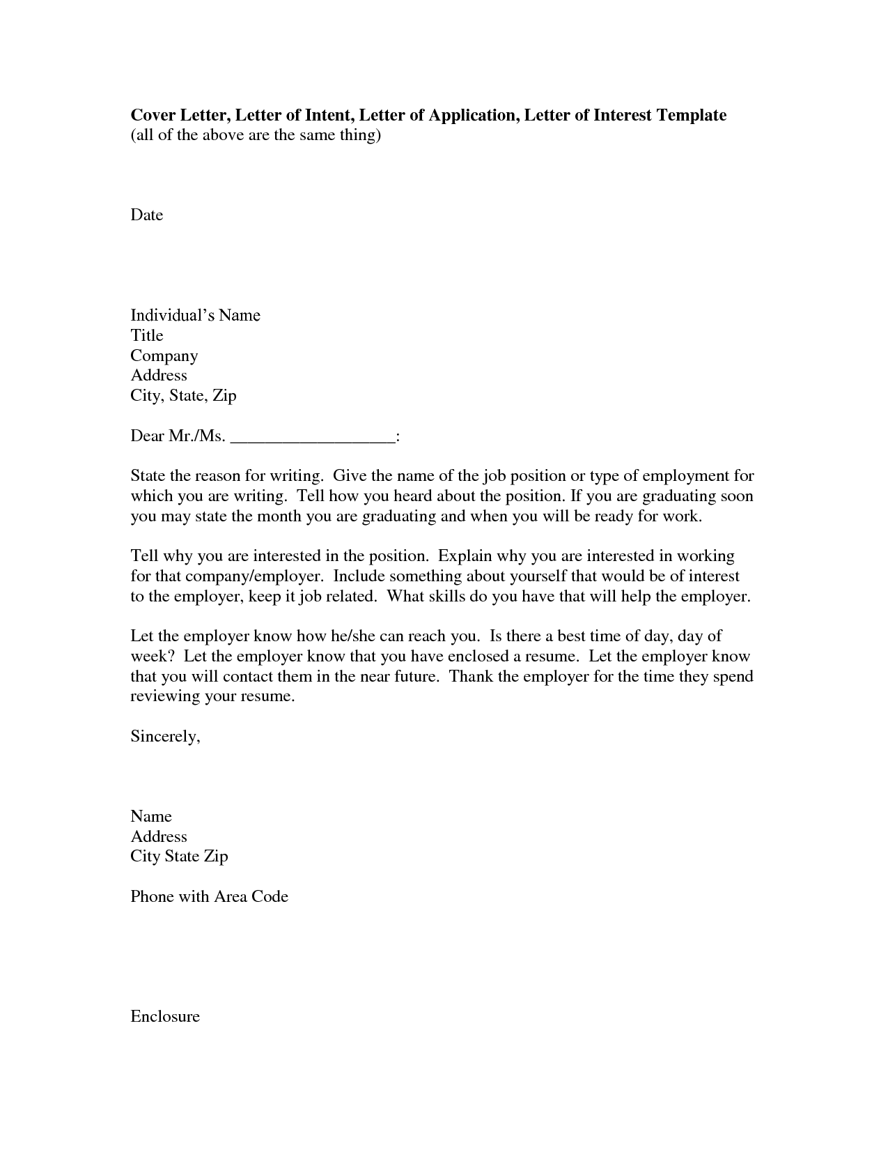 Open Office Cover Letter Template Download  HttpWwwResumecare