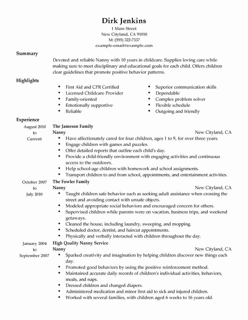 20 Babysitter Job Description Resume in 2020 (With images