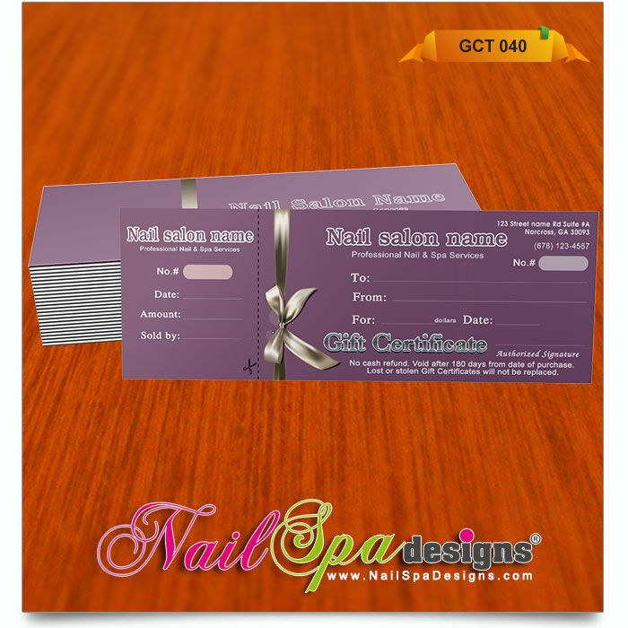 gift certificate template for nail salon visit www nailspadesigns