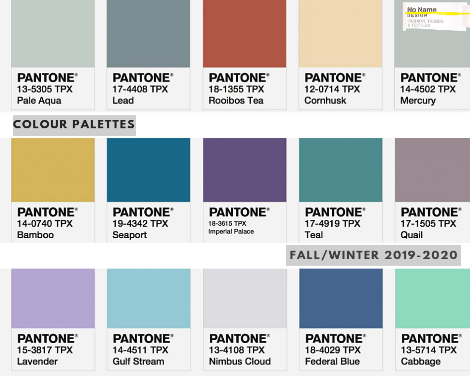Colour Trends For Fall Winter 2020 2021 No Name Design Ltd Color Trends Fashion Color Trends Winter Colors