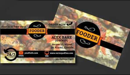 Restaurants And Bakery Free PSD Business Card Template Download - Restaurant business cards templates free