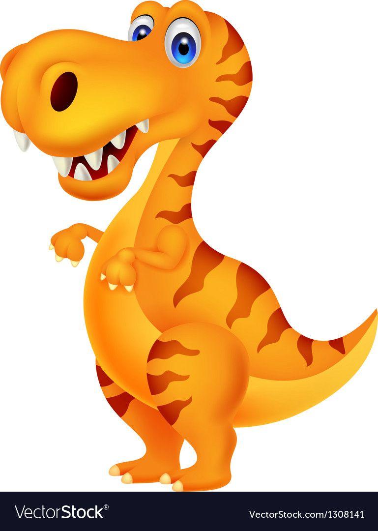 Dinosaur Cartoon Vector Image On Dinosaurier