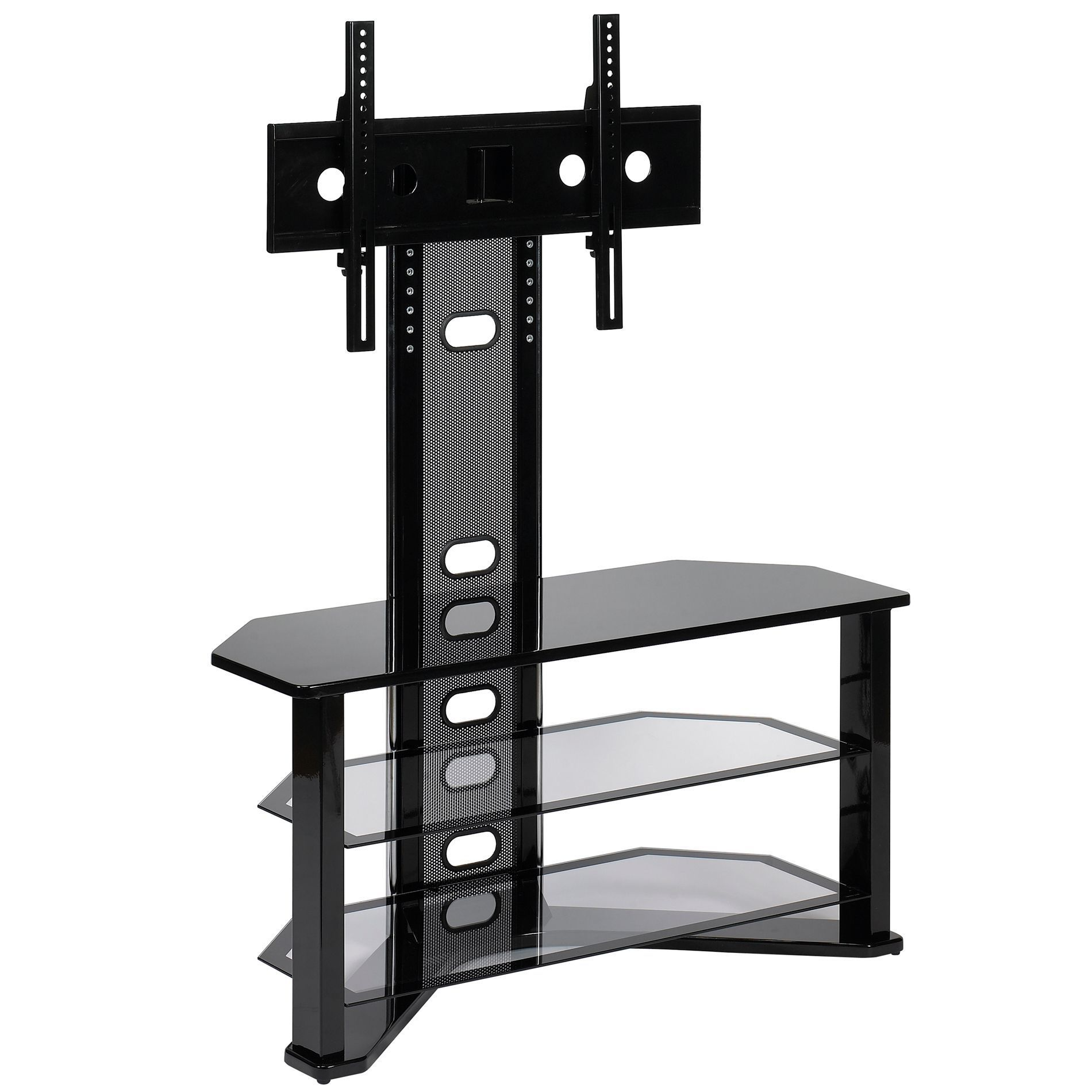 Z Line Madrid Tv Stand For 50 Televisions Piano Black Finish