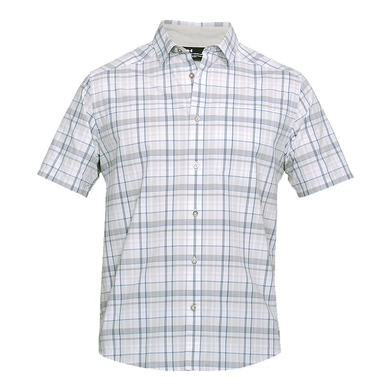 0a4c09c128 Under Armour Men's Legacy Plaid Short Sleeve Shirt - White in 2019 ...