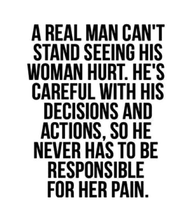 The Man Is The One Who Protects In A Relationship. Not The
