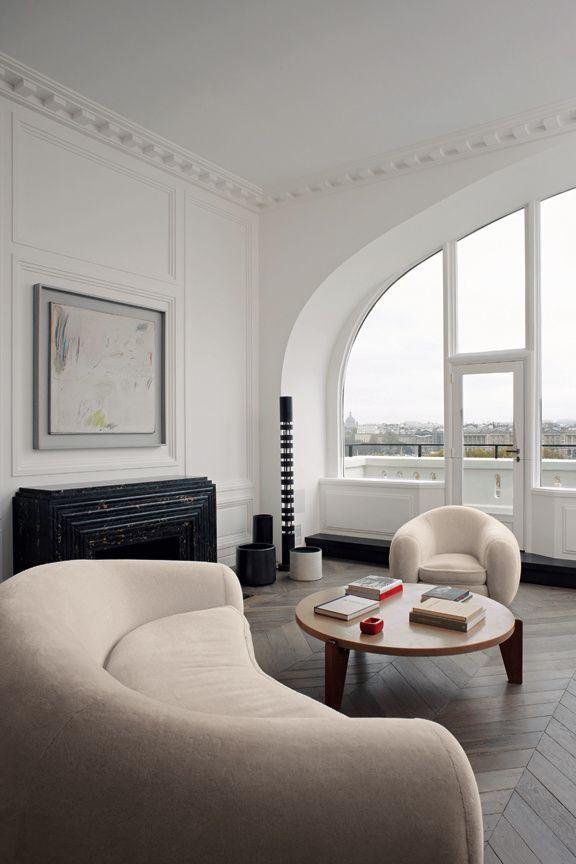 Vue Sur Le Ciel De Paris Canape Arrondi Deco Maison Decoration Inspiration