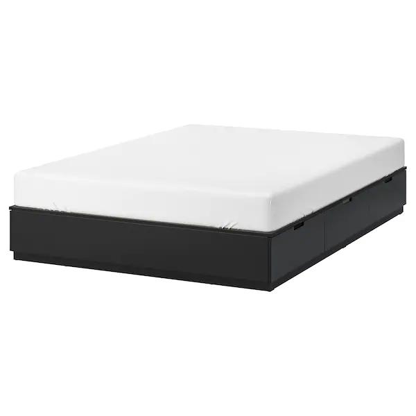 Nordli Rama Lozka Z Szufladami Antracyt 160x200 Cm Zamow Dzis Ikea Bed Frame With Storage Bed Frame Bed Storage