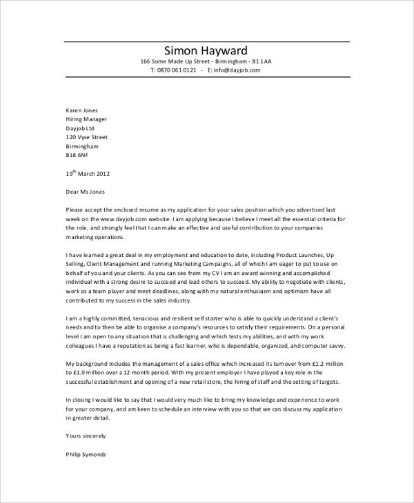 professional cover letter sample examples pdf word templates - what should my cover letter say