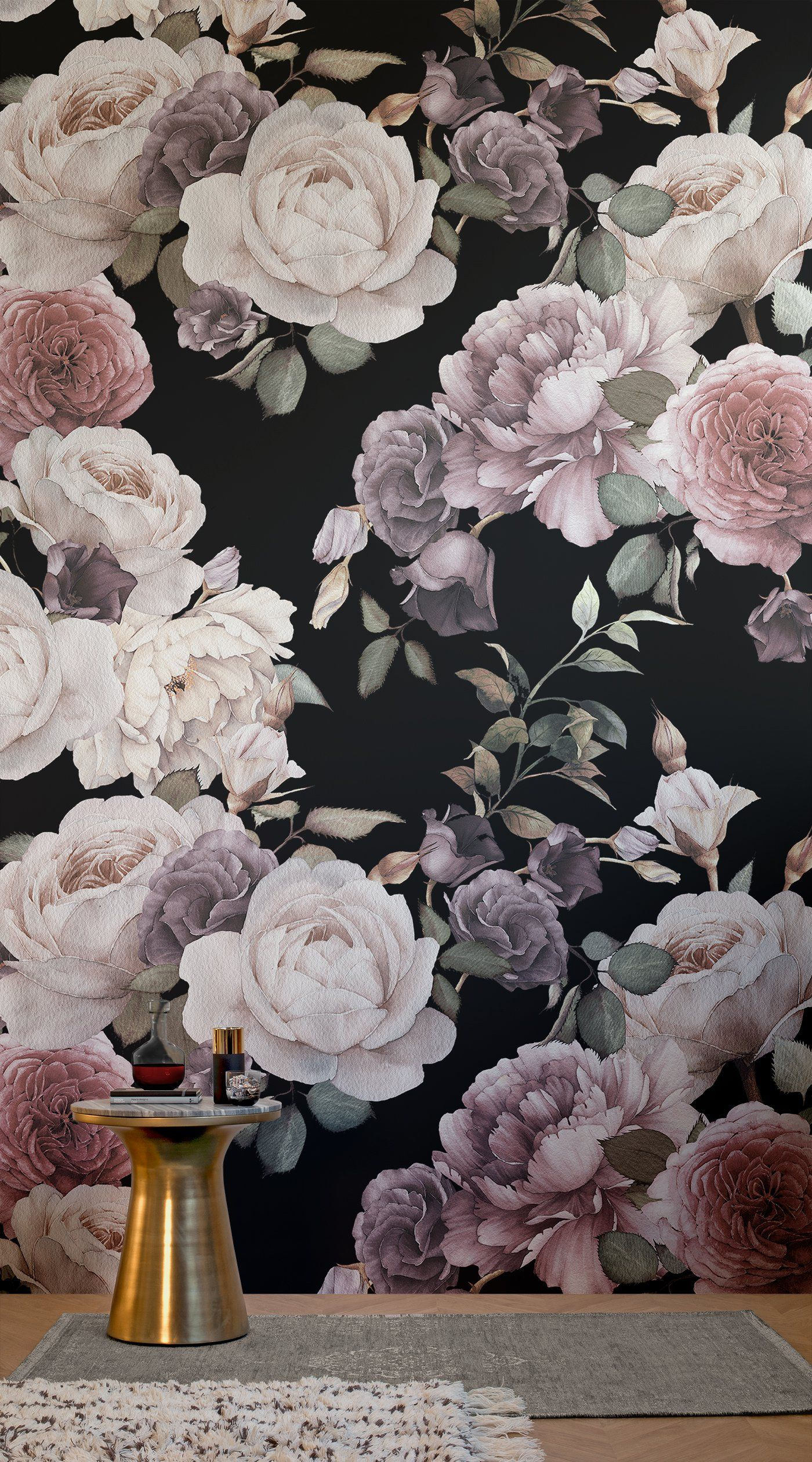 8 Dark Floral Wallpapers To Create A Striking Space