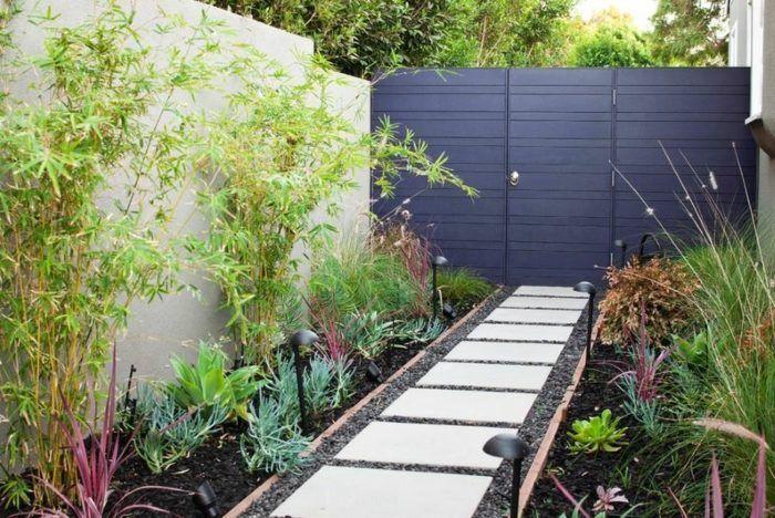 Aménagement jardin avec une touche d\u0027exotisme- 50 photos Front - paroi anti bruit exterieur
