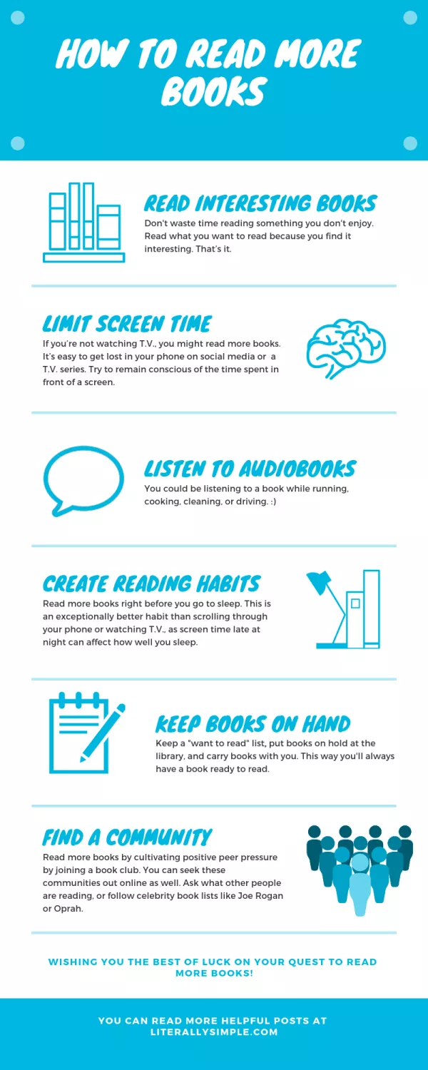 How to Read more Books - Looking to read more books for your book club? Follow these tips and ideas to read your bestselling, young adult, fantasy, or classic books! #forwomen #foryoungadults #tips #quotes #selfhelp
