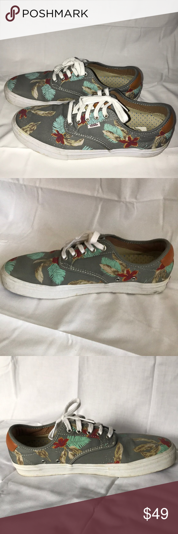08053b16fb77 VANS Chima Ferguson Pro - Men Size 10 Aloha Light Gray Men s Skateboard  Shoes •Limited Edition •Excellent Condition •Soles of both shoes have  scuffs and ...