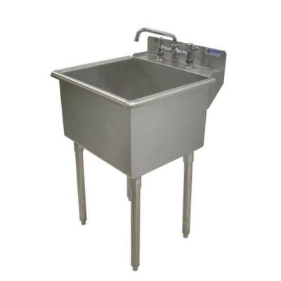 Griffin Products LT Series 24x24 Stainless Steel Freestanding 2 Hole Laundry  Sink