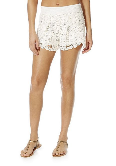 Tesco Direct Ff Crochet Lace Beach Shorts Fashion Lace Shorts
