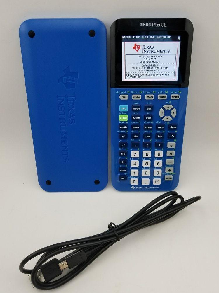 BLUE TEXAS INSTRUMENTS TI-84 PLUS CE GRAPHIC CALCULATOR MATH