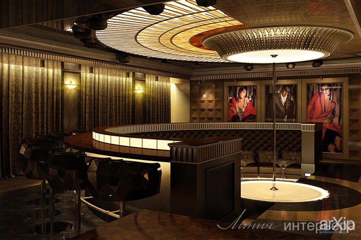 Дизайн интерьера ночного клуба: интерьер, ар-деко, ночной клуб, дискотека, 50 - 80 м2, зал #interiordesign #artdeco #nightclub #disco #50_80m2 #hall arXip.com