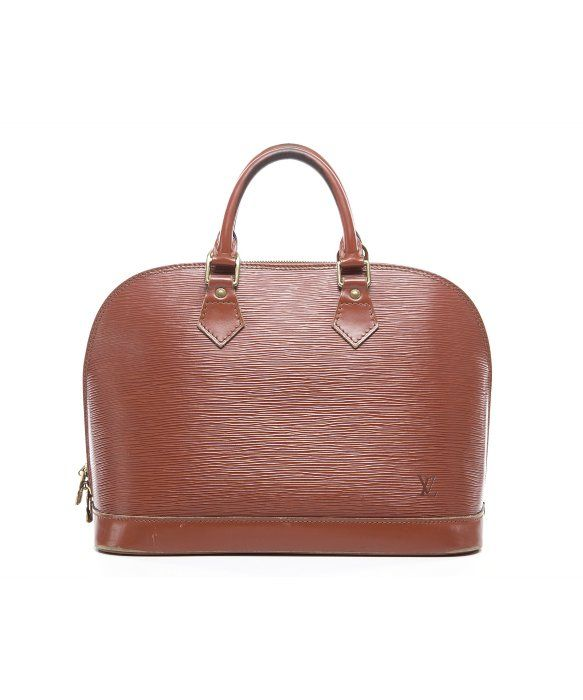 f37e6158df251 Louis Vuitton Pre-Owned Louis Vuitton Kenyan Brown Epi Leather Alma ...