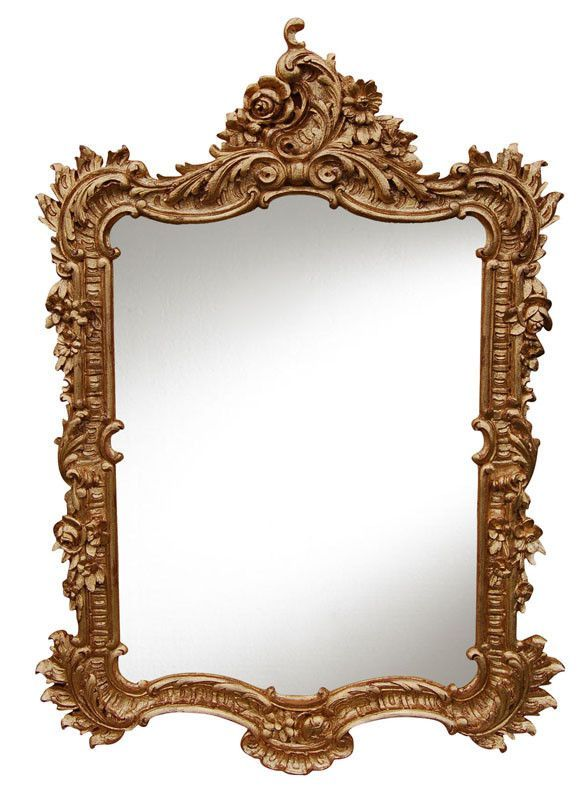 Elegant Wall Mirrors elegant wall mirror antique reproduction, gold leaf color finish